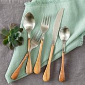 Wood Handled Stainless Flatware