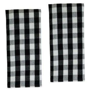 Buffalo Plaid Black & White Towel