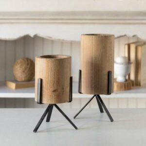 Wood/Metal Vessel