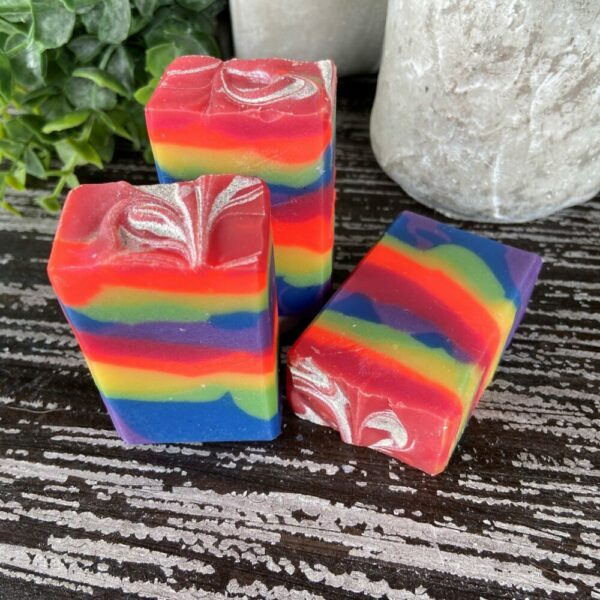 Rainbow Punch Artisan Soap