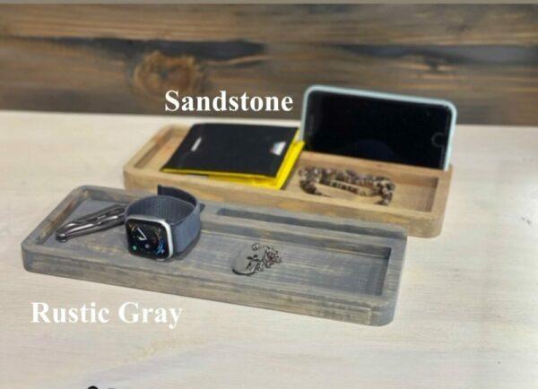 Custom Rustic Wood iPhone Smartphone Stand Tray
