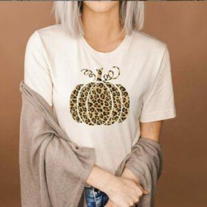 Leopard Print Pumpkin Tee