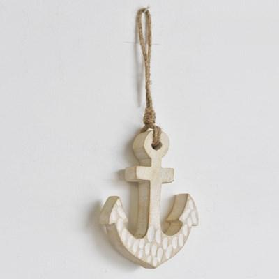 Hanging Carved Wood Anchor