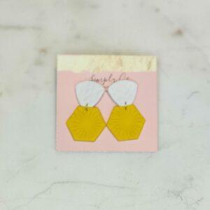 Yellow & White Flower Earrings