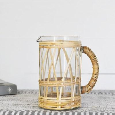 Rattan wrapped Pitcher