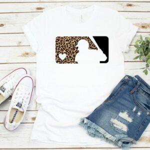 Leopard Print Baseball Logo Tee