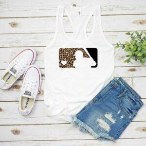 Leopard Print Baseball Logo Tank