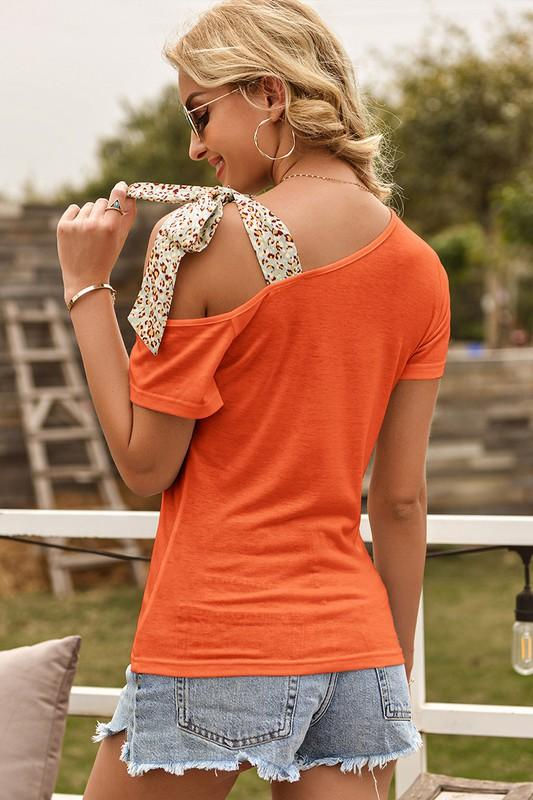 Orange Strap Top