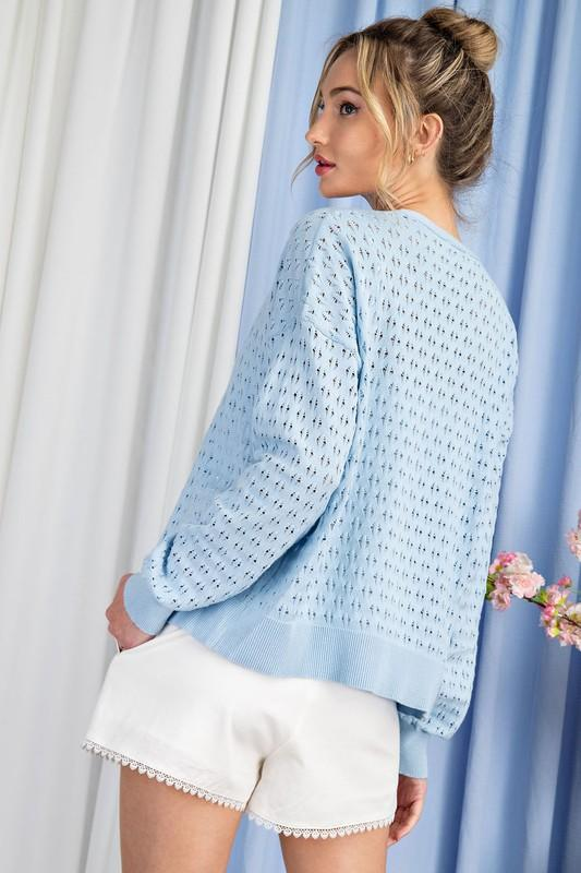 Gotta Have Summer Sweater-Periwinkle