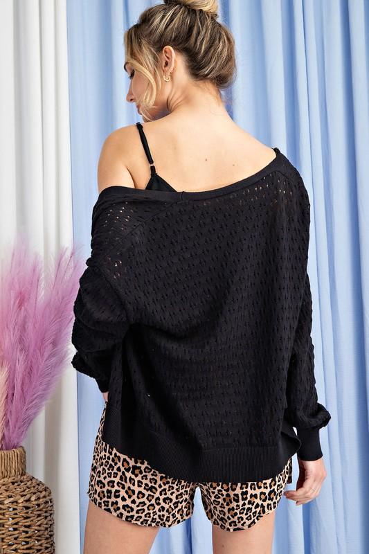 Gotta Have Summer Sweater-Black
