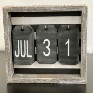 Wooden Daily Calendar