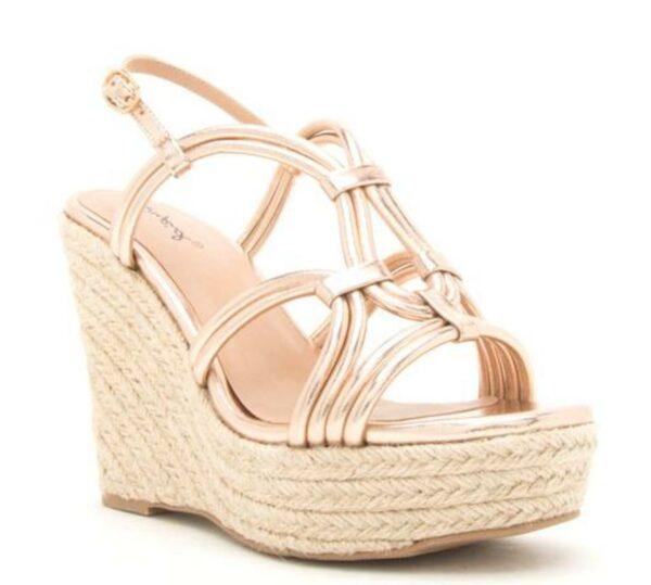 Kelsey Rose Gold Sandals