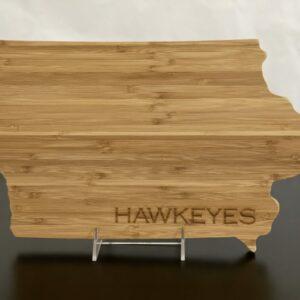 Iowa Hawkeyes Wooden Cutting/Charcuterie Board