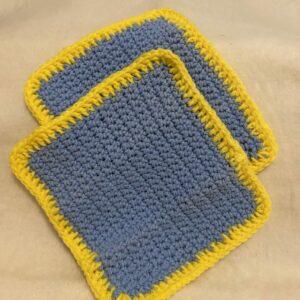 Blue & Yellow Washcloth Set