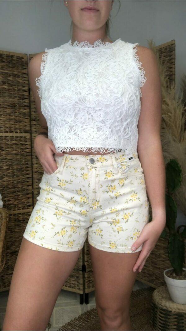 Judy Blue Flower Print Shorts