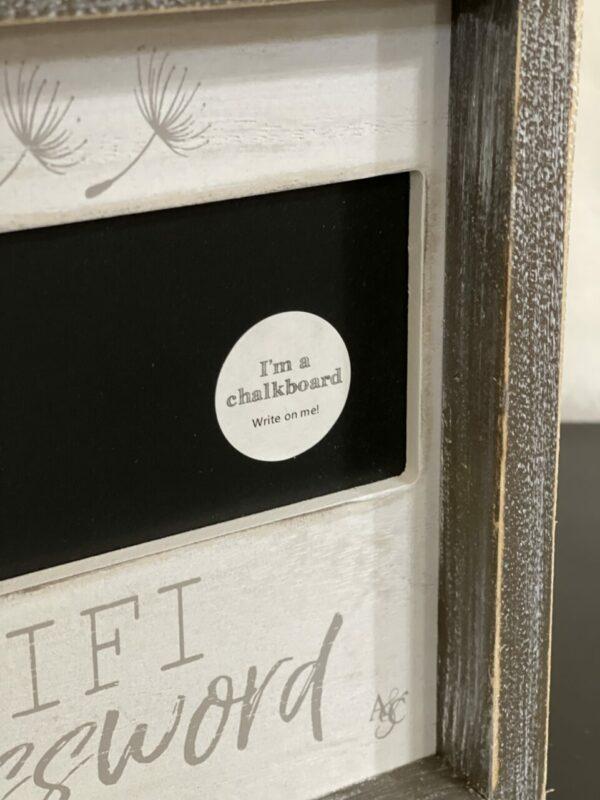 Decorative Wifi Password Sign