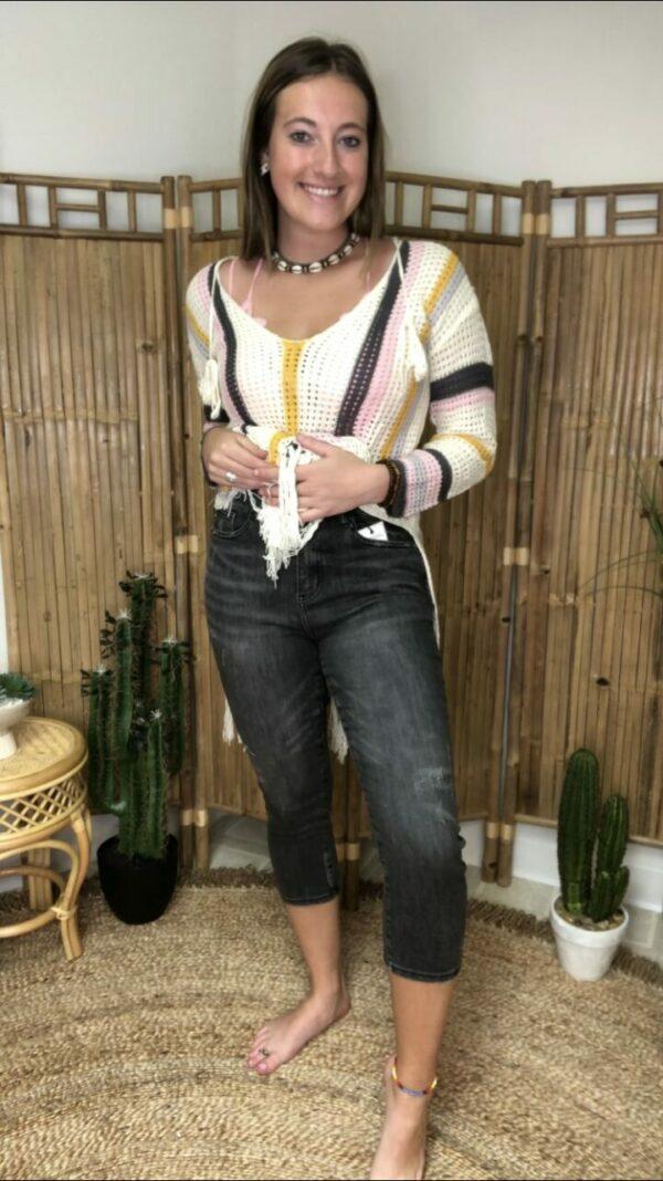 Judy Blue High-Waist Skinny Capri Cuffed