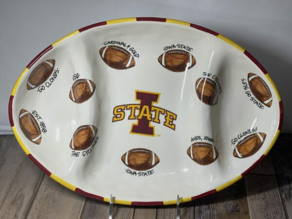 Iowa State Cyclones Football Oval Serving Platter