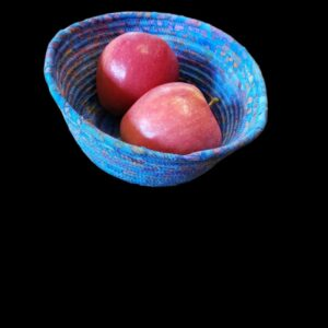 Rope Bowl-Round Medium Blue