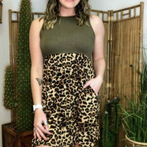 Sleeveless Leopard Dress