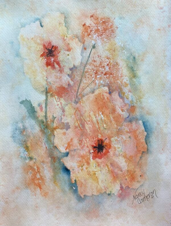 Summer Blooms Original Watercolor Painting