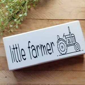Little Farmer Wood Sign