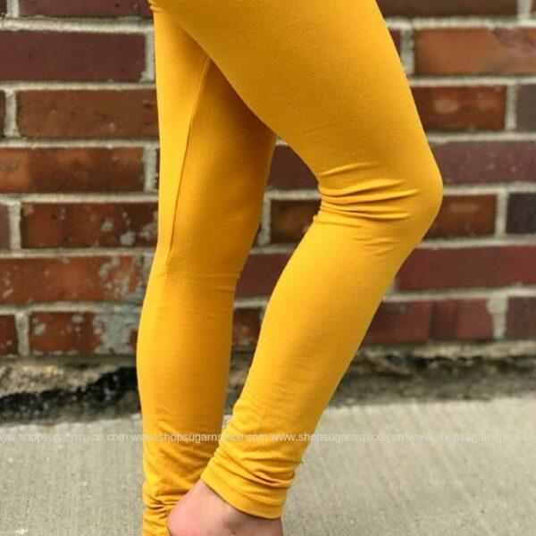 basic mustard legging