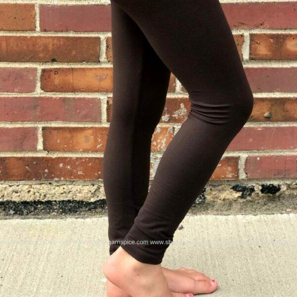 basic brown legging