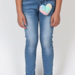 indigo blue 2 button jean with charm