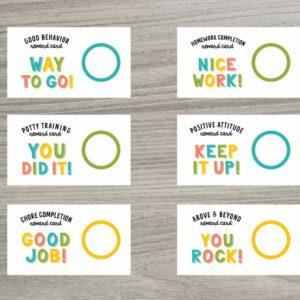 Scratch OFF Reward Chores Cards