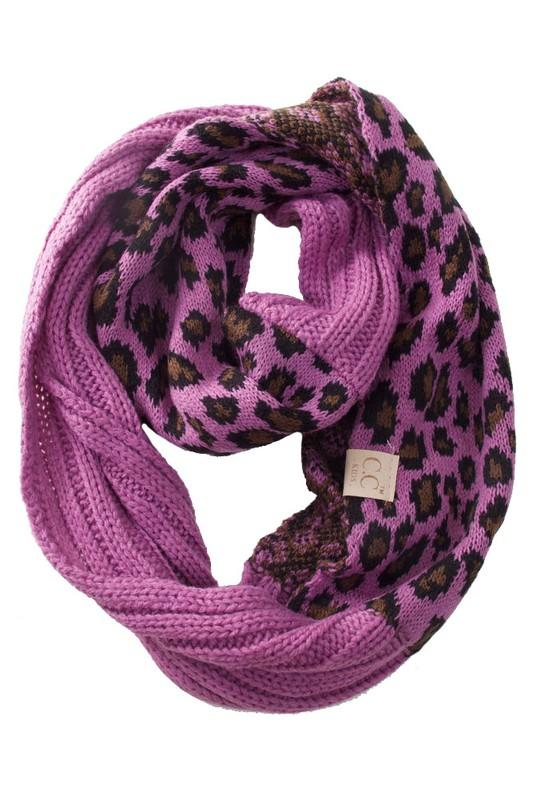 solid and animal print scarf (more colors)