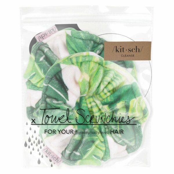 Microfiber Towel Scrunchies – Palm Print
