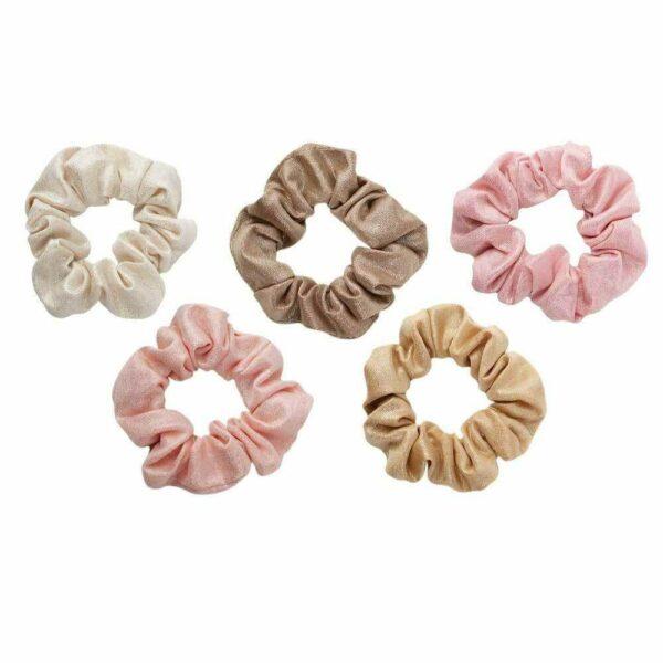 Metallic Scrunchies – Blush and Mauve