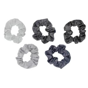 Metallic Scrunchies – Black and Gray