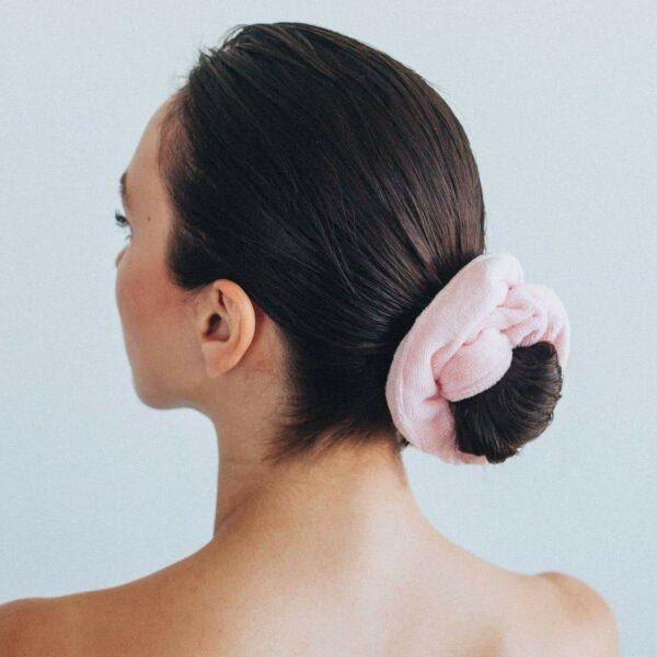 Microfiber Towel Scrunchies – Blush