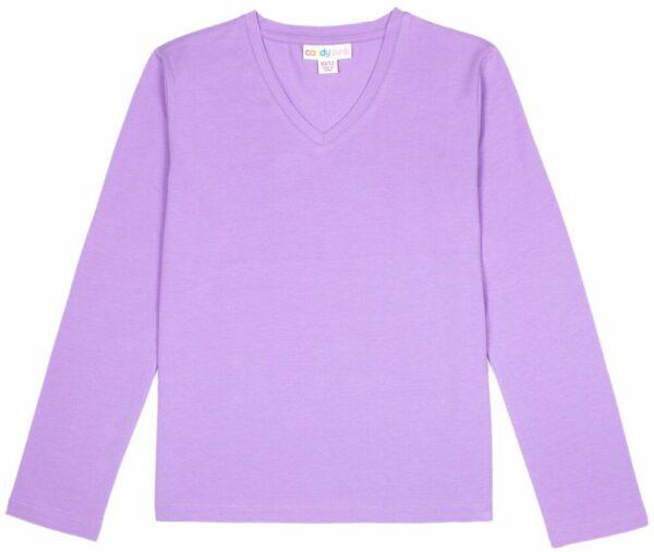 purple basic long sleeve top