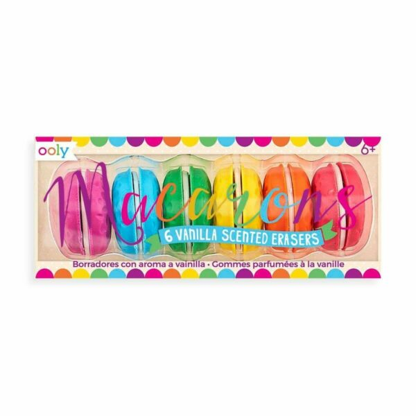 Macaron Scented Erasers – Set of 6