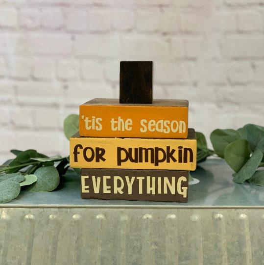 Tis The Season For Pumpkin Everything Stacker Blocks