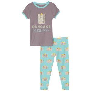 summer sky pancakes 2 pc ss pajama set