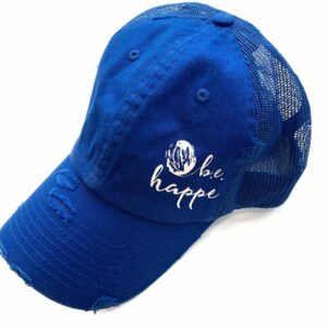 Distressed Baseball Cap | Royal Blue