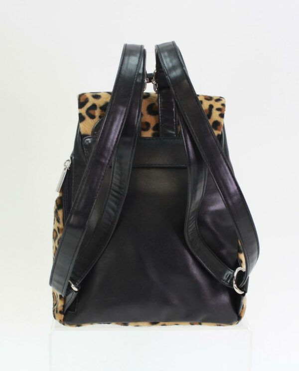leopard faux fur backpack