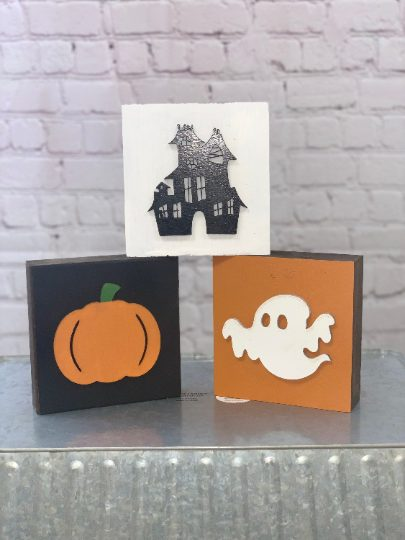 Reversible – 3D Halloween/Fall Mini Block Set of 3