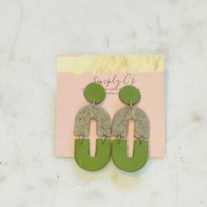Olive & Sand Chloe Earrings