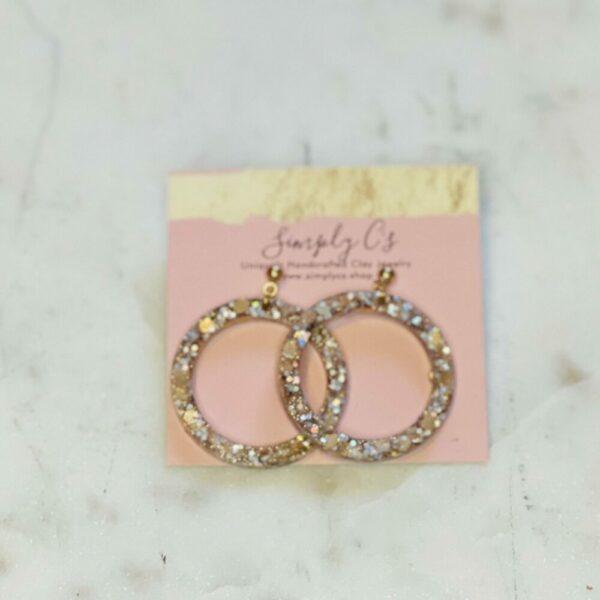Champagne Circles Earrings