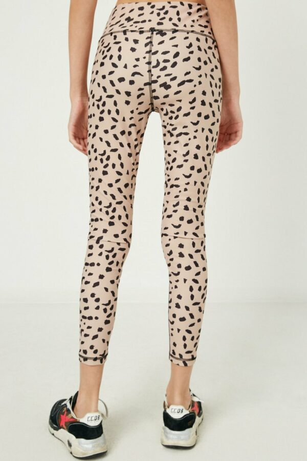 abstract dotted active legging