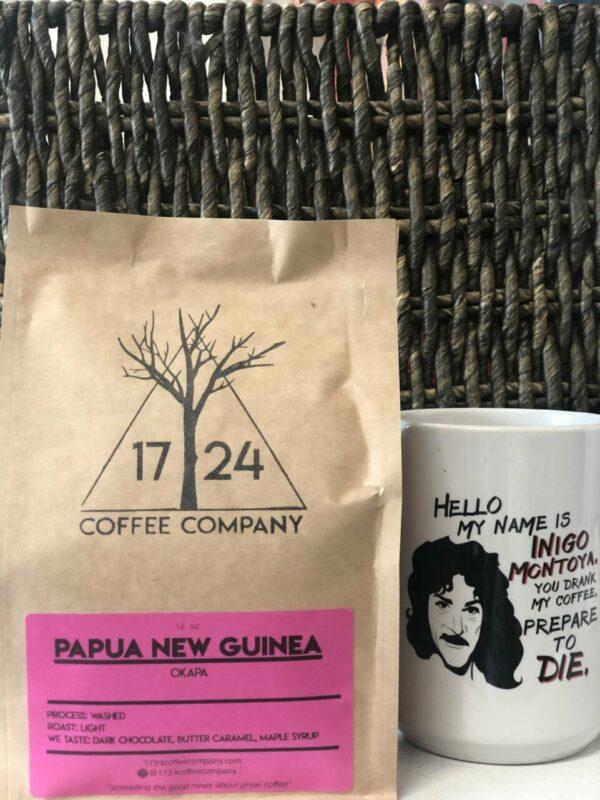 PAPUA NEW GUINEA Okapa Whole Bean Coffee