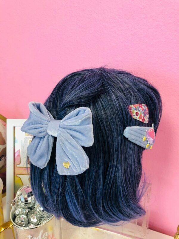 Pretty Pastel Hair Clips & Bow Set, 2pc per color