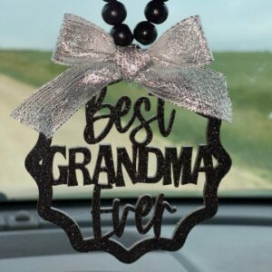 Best Grandma Ever Mirror Charm