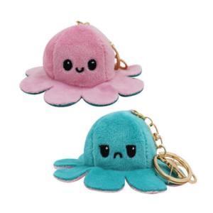 reversible octopus keychain