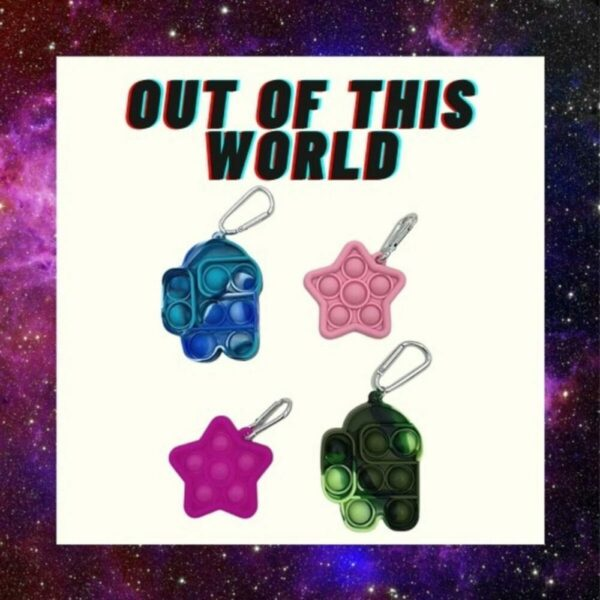 Out of This World Keychains and Backpack Accessories